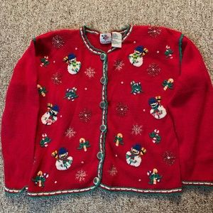 But Cracker red Christmas sweater Sm